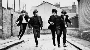 "Picture of ""The Beatles"" filmo ""A Hard Day's Night"" peržiūra!"
