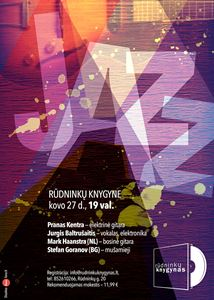Picture of Koncertas knygyne kovo 27 d.: Prano Kentros trio + Jurgis Baltrušaitis