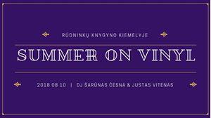 Picture of Summer On Vinyl Vol. 3 Rūdninkų knygyno kiemelyje