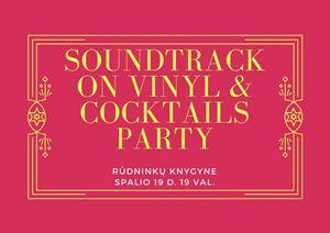 Picture of Soundtrack on vinyl & cocktails party su barmenu Mantu Ruzveltu