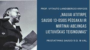 Picture of Prof. Vytauto Landsbergio knygos apie Sausio 13-ąją pristatymas